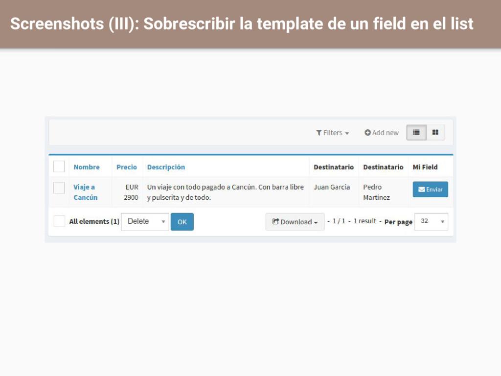 Screenshots (III): Sobrescribir la template de ...