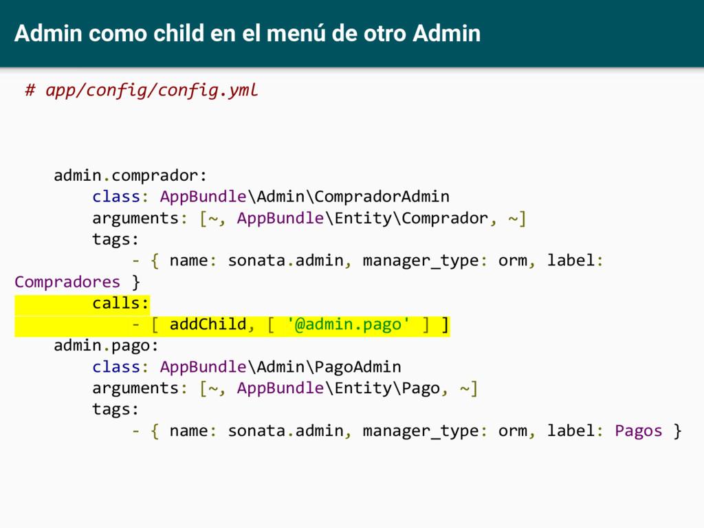 Admin como child en el menú de otro Admin # app...
