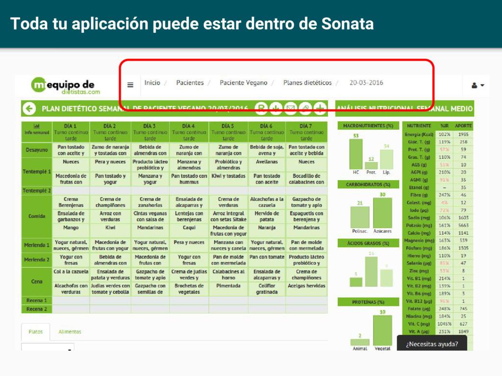 Toda tu aplicación puede estar dentro de Sonata