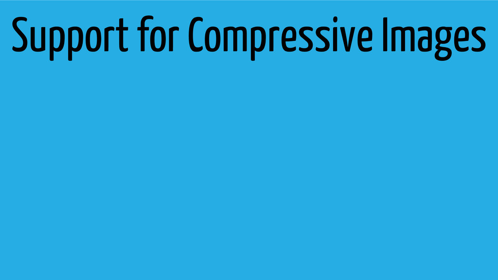 Support for Compressive Images