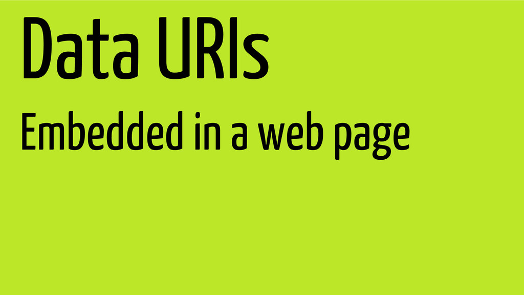 Data URIs Embedded in a web page
