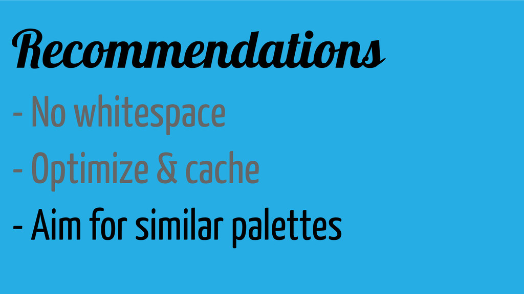 Recommendations - No whitespace - Optimize & ca...