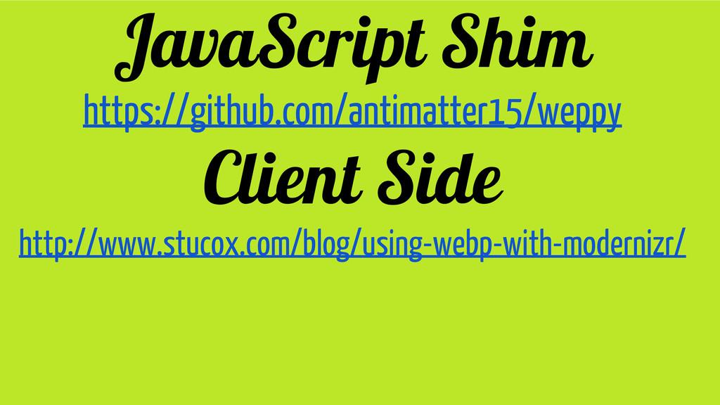 JavaScript Shim https://github.com/antimatter15...