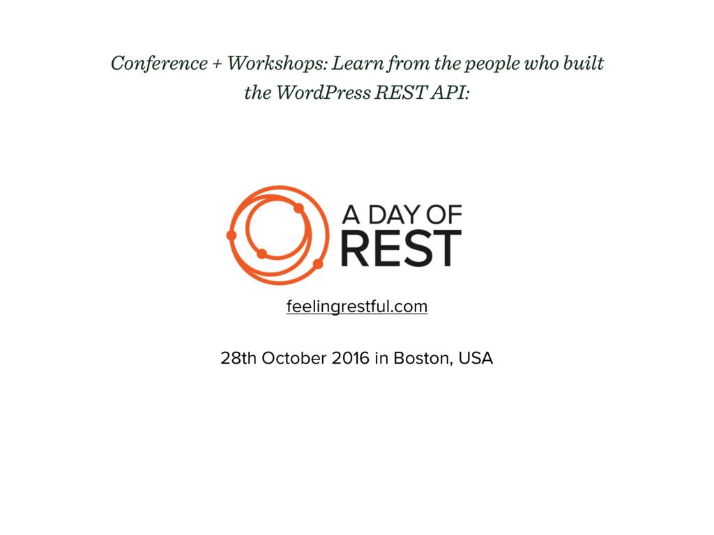 feelingrestful.com 28th October 2016 in Boston,...