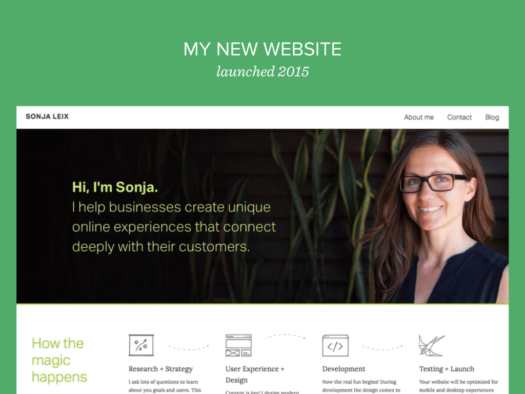 MY NEW WEBSITE launched 2015