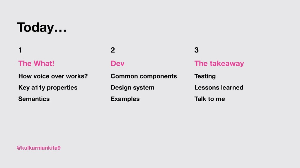 @kulkarniankita9 Today… 2 Dev Common components...