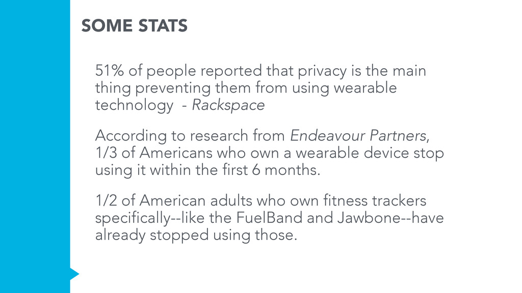 SOME STATS 51% of people reported that privacy ...