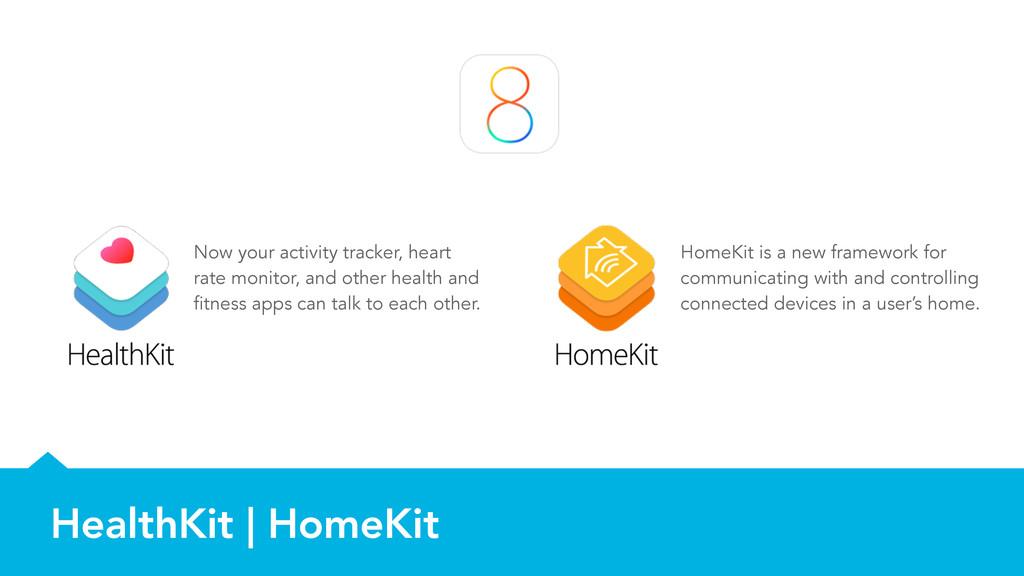 HealthKit | HomeKit Now your activity tracker, ...