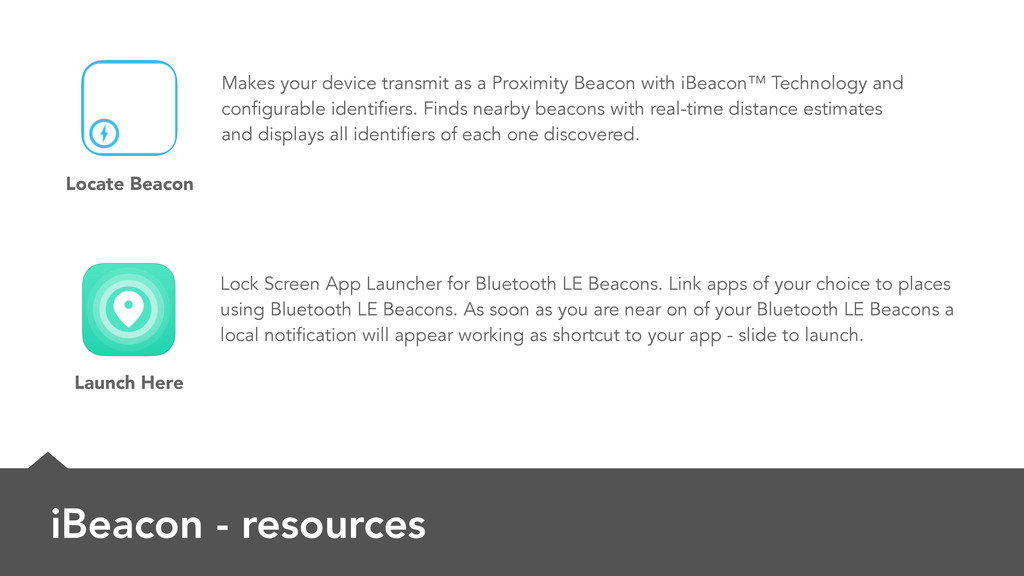 iBeacon - resources Makes your device transmit ...
