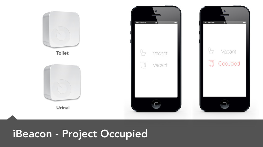 iBeacon - Project Occupied Urinal Toilet