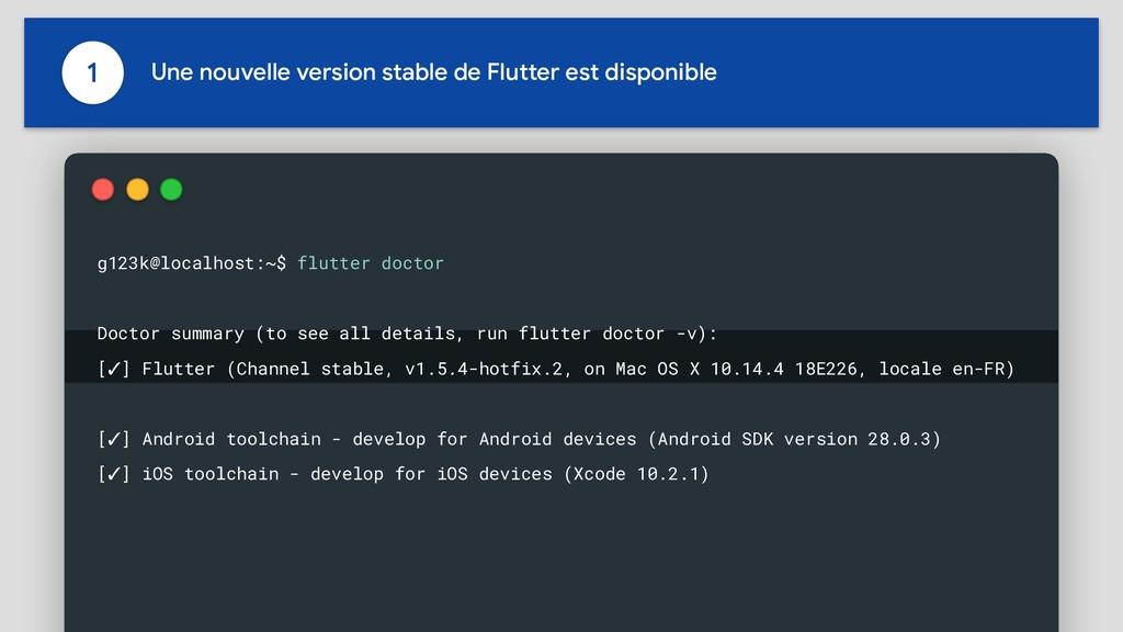 1 Une nouvelle version stable de Flutter est di...