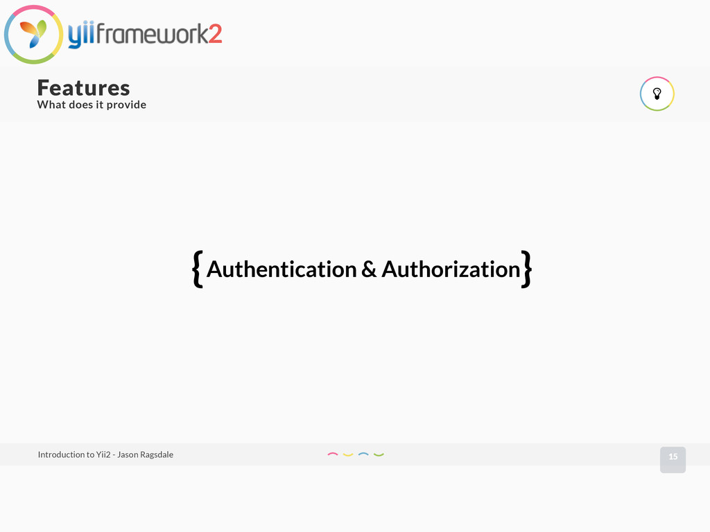 { } Authentication & Authorization What does it...
