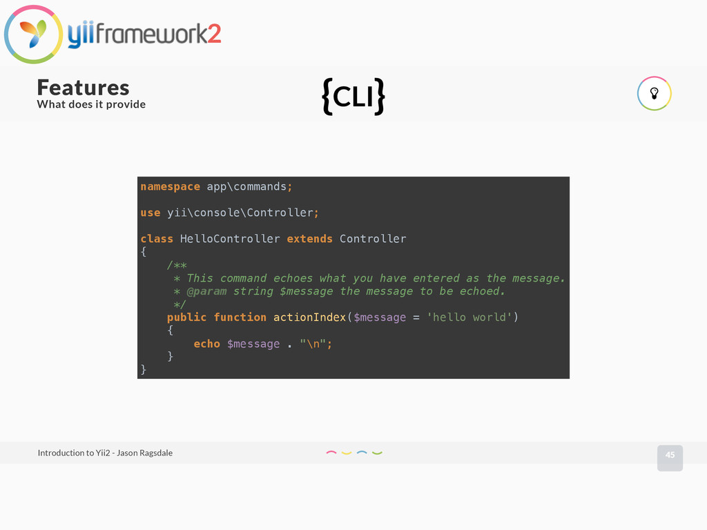 What does it provide 45 Features Introduction t...