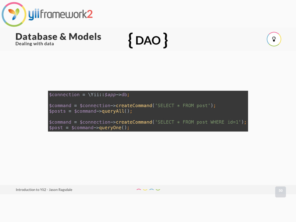 50 Database & Models Introduction to Yii2 - Jas...