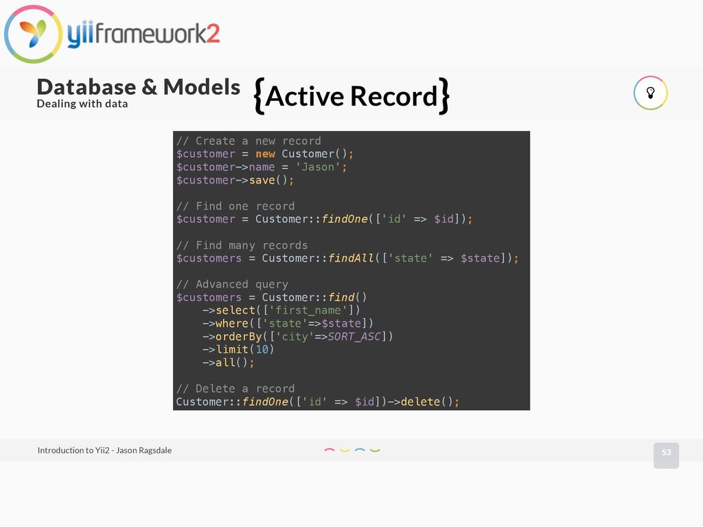 53 Database & Models Introduction to Yii2 - Jas...