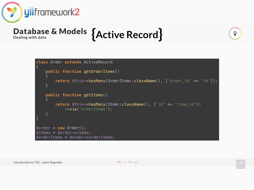 54 Database & Models Introduction to Yii2 - Jas...
