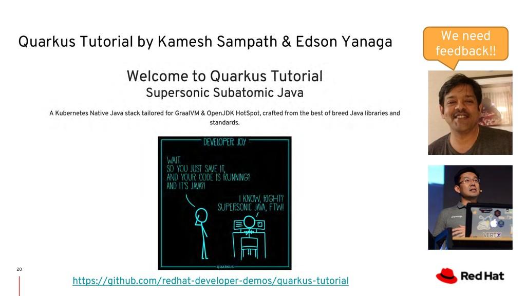 Quarkus Tutorial by Kamesh Sampath & Edson Yana...