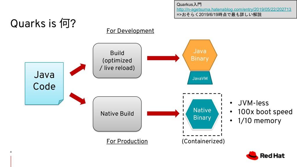 Quarks is 何? 4 Java Code Build (optimized / liv...