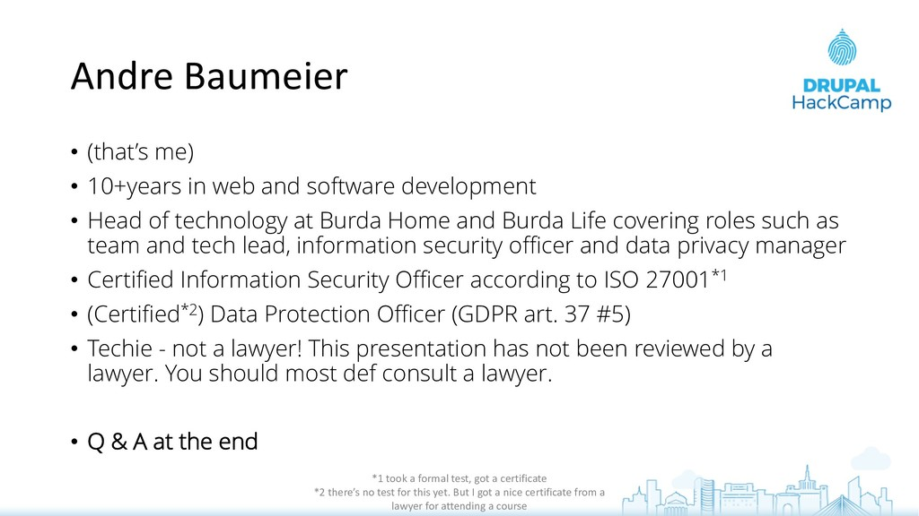 Andre Baumeier • (that's me) • 10+years in web ...