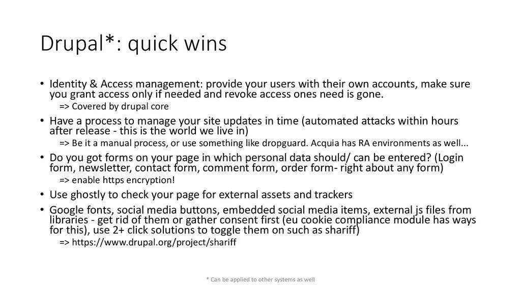 Drupal*: quick wins • Identity & Access managem...