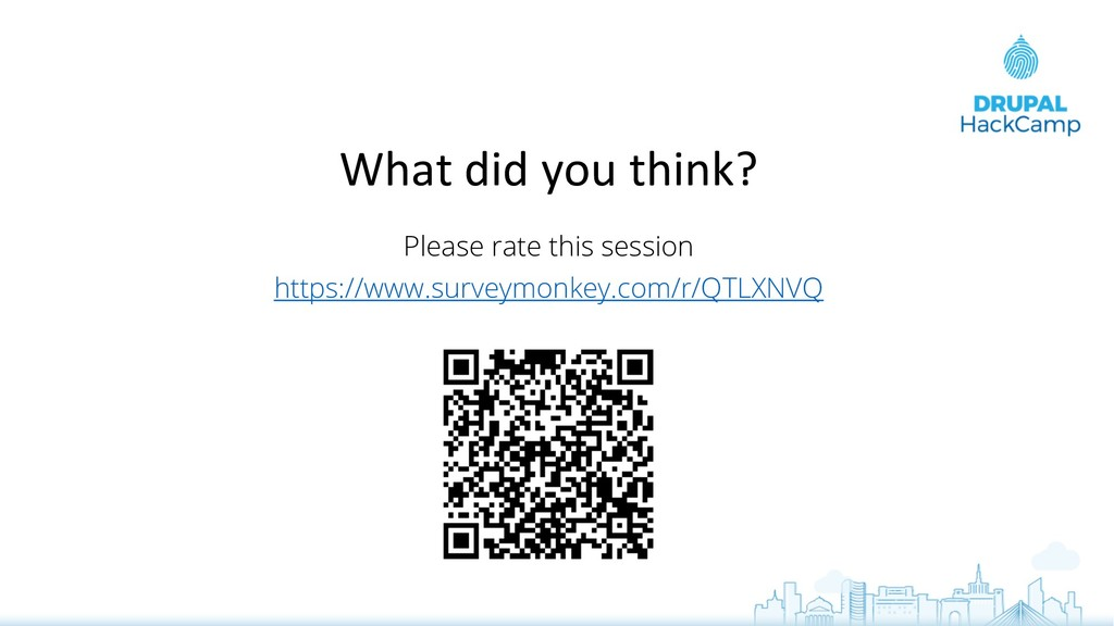 What did you think? Please rate this session ht...