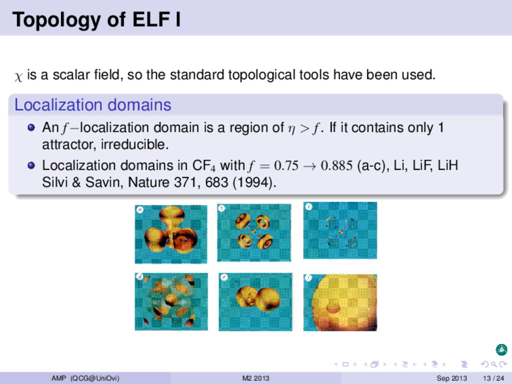 Topology of ELF I χ is a scalar field, so the st...