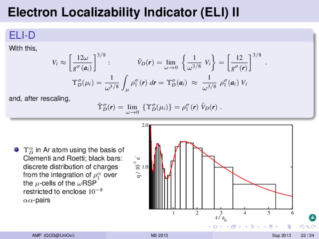 Electron Localizability Indicator (ELI) II ELI-...