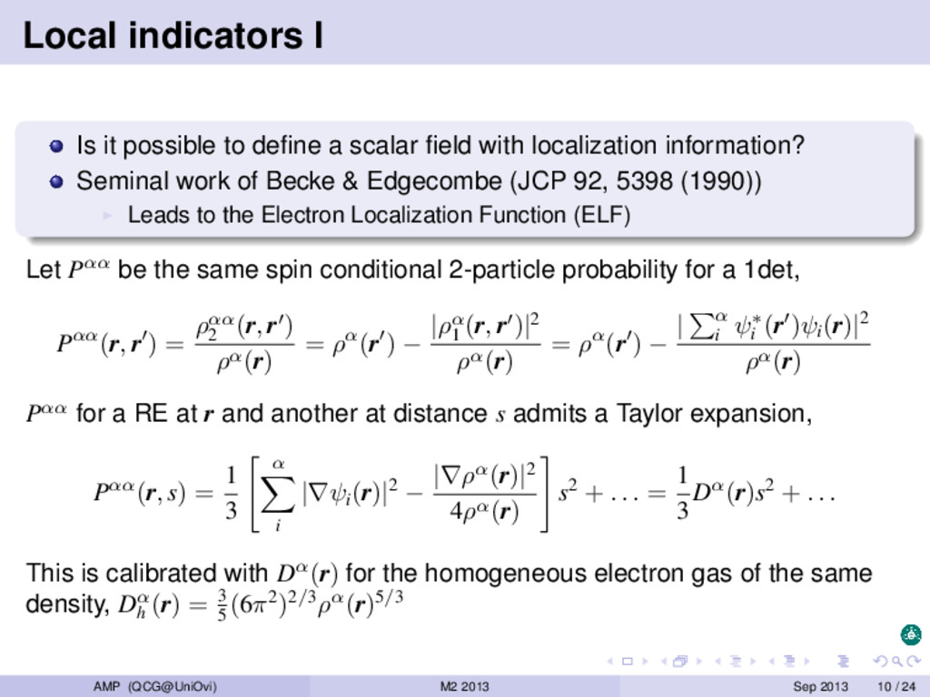Local indicators I Is it possible to define a sc...