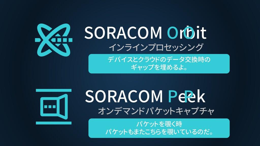 SORACOM Orbit インラインプロセッシング SORACOM Peek オンデマンドパ...