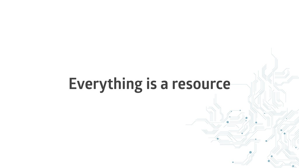 Everything is a resource