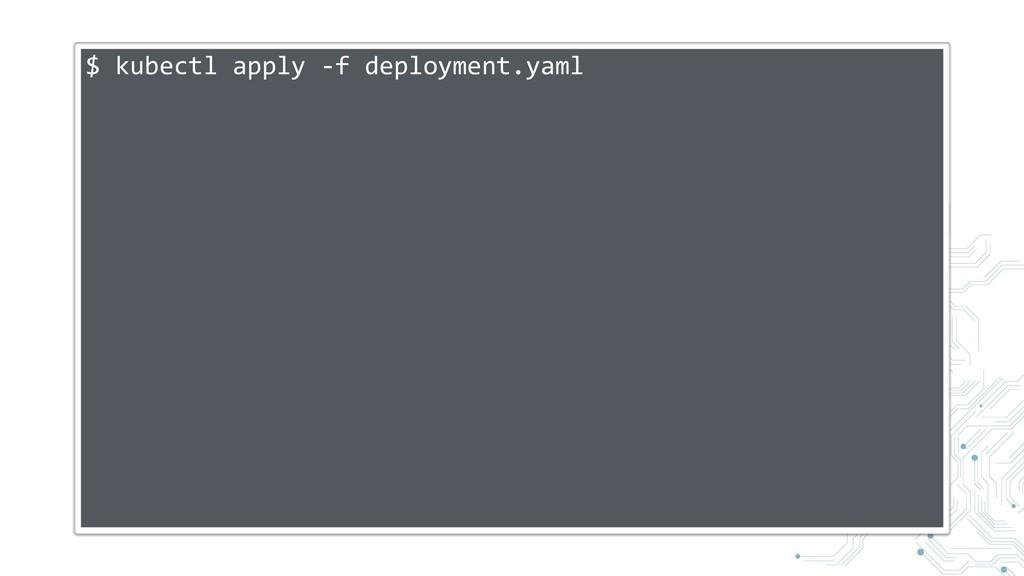 $ kubectl apply -f deployment.yaml