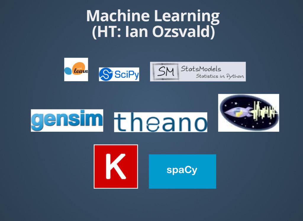 Machine Learning (HT: Ian Ozsvald) (HT: Ian Ozs...