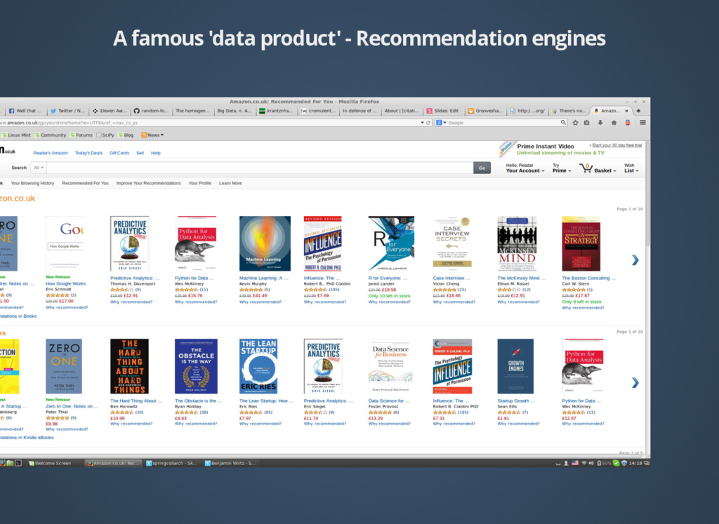 A famous 'data product' - Recommendation engines