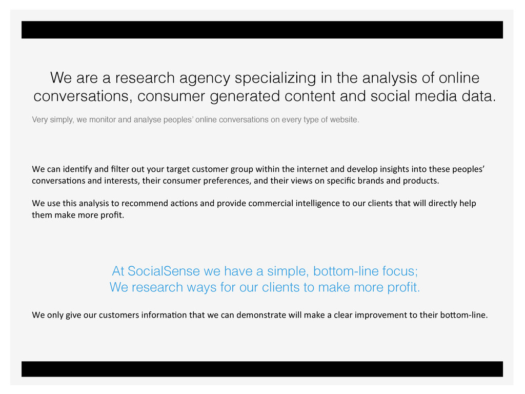 We are a research agency specializing in the an...