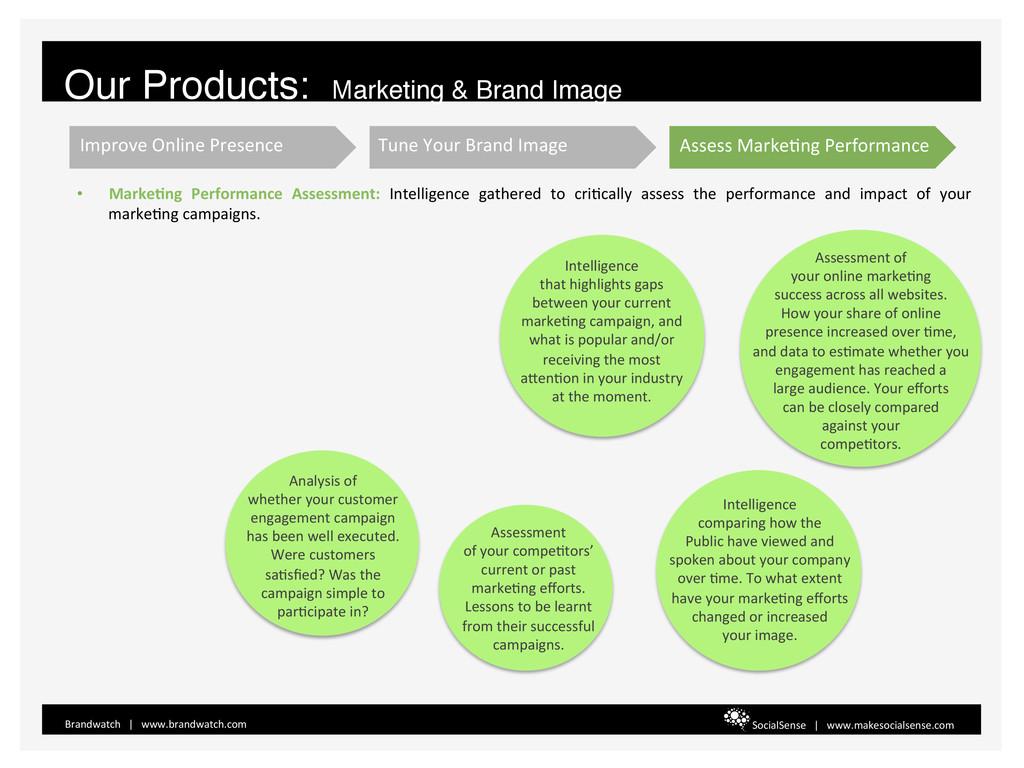 • MarkeBng  Performance  Assessment: ...