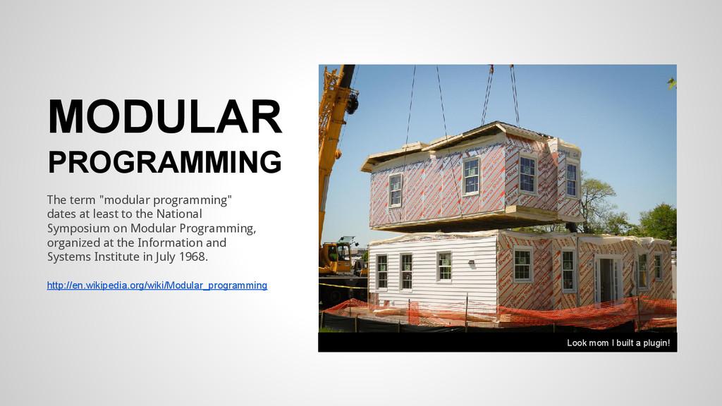 "MODULAR PROGRAMMING The term ""modular programmi..."