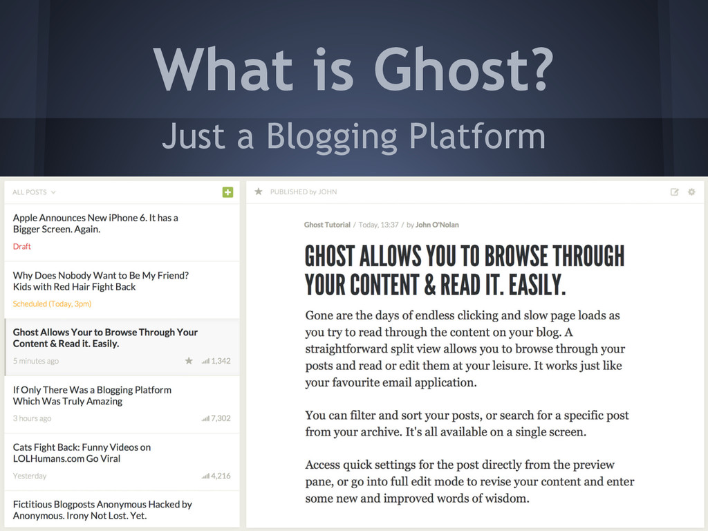 Just a Blogging Platform What is Ghost?
