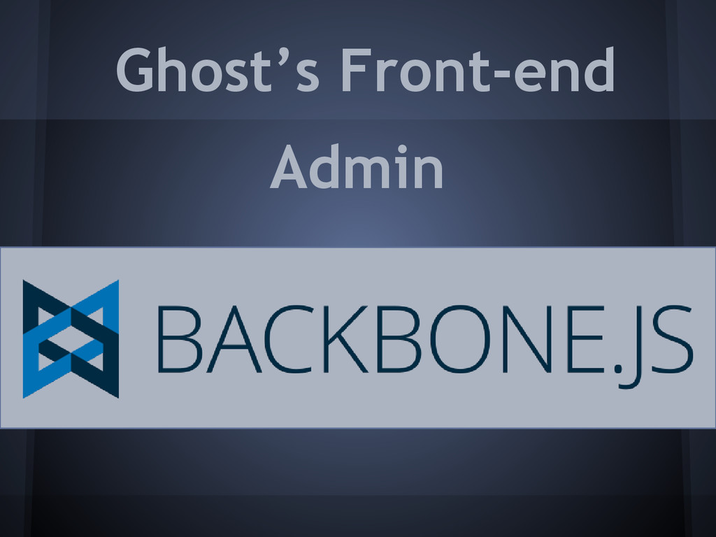 Ghost's Front-end Admin