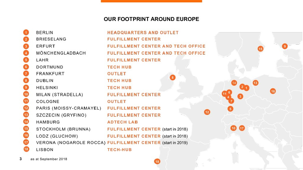 3 OUR FOOTPRINT AROUND EUROPE