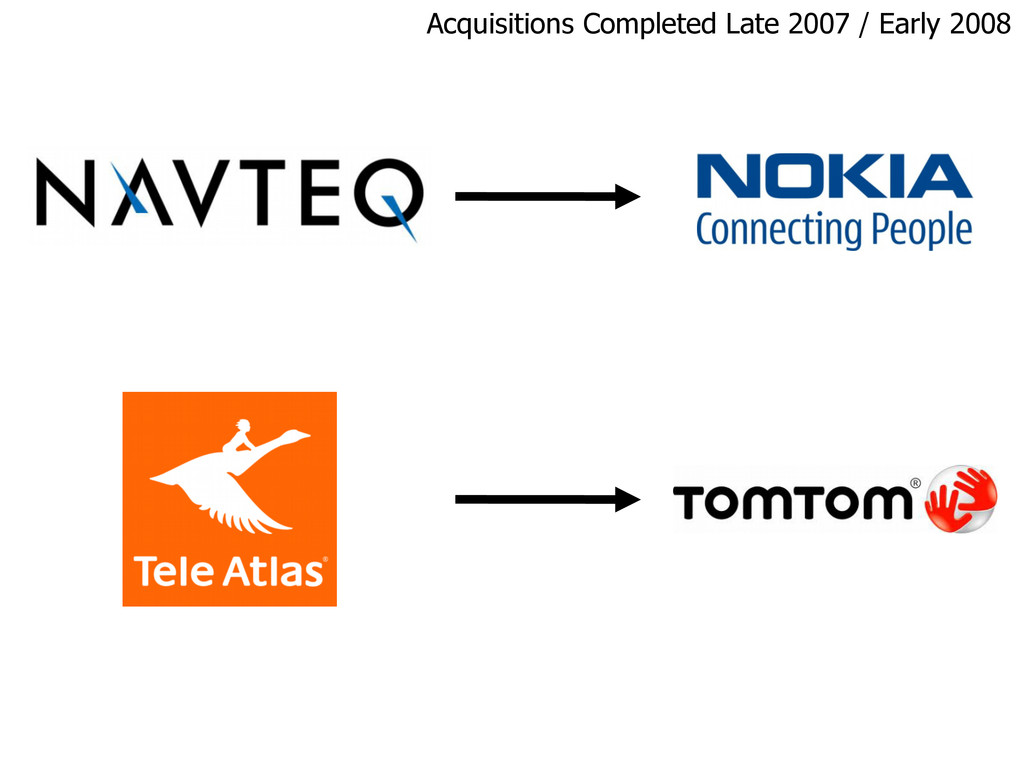 Acquisitions Completed Late 2007 / Early 2008