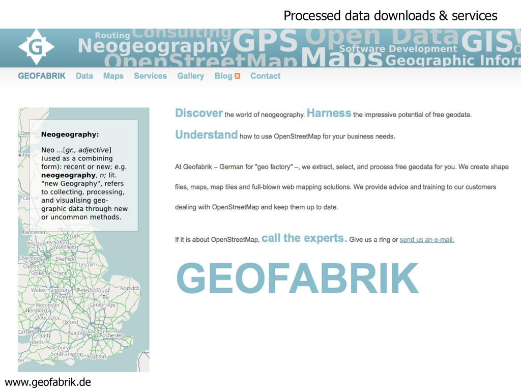 Processed data downloads & services www.geofabr...