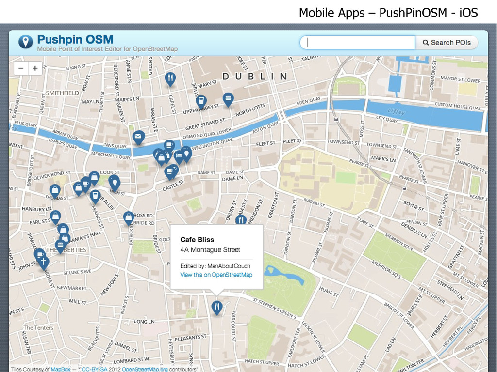 pushpinosm.org Mobile Apps – PushPinOSM - iOS