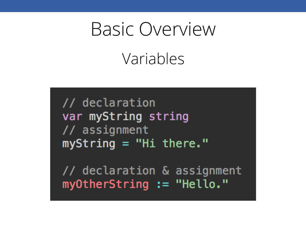 Basic Overview Variables