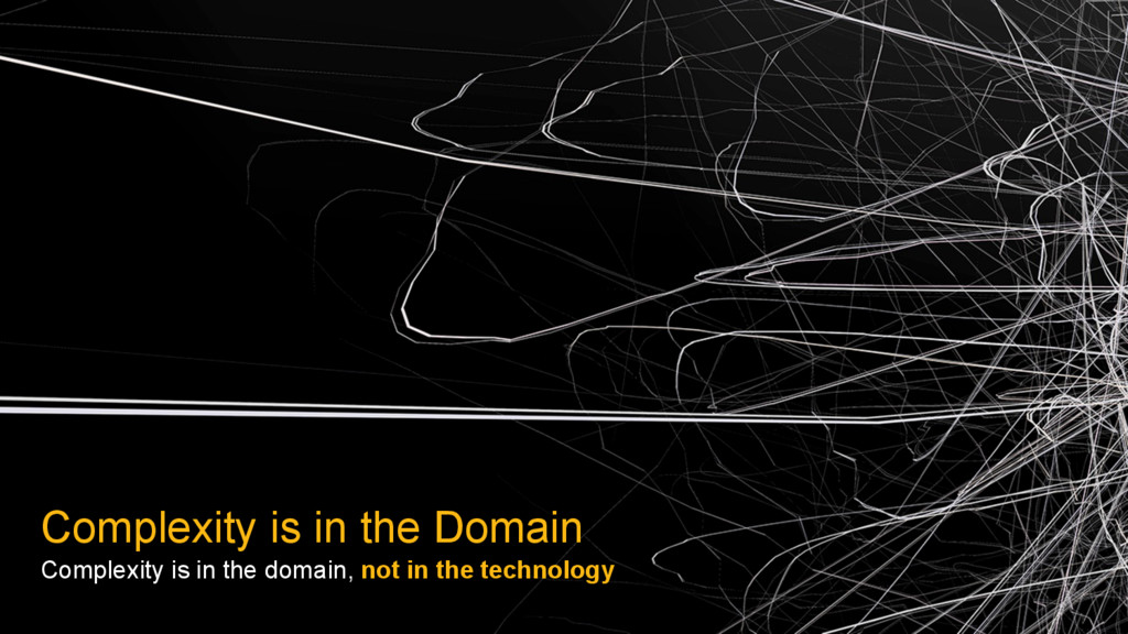 Complexity is in the Domain Complexity is in th...