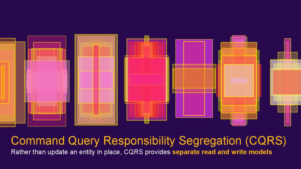 Command Query Responsibility Segregation (CQRS)...
