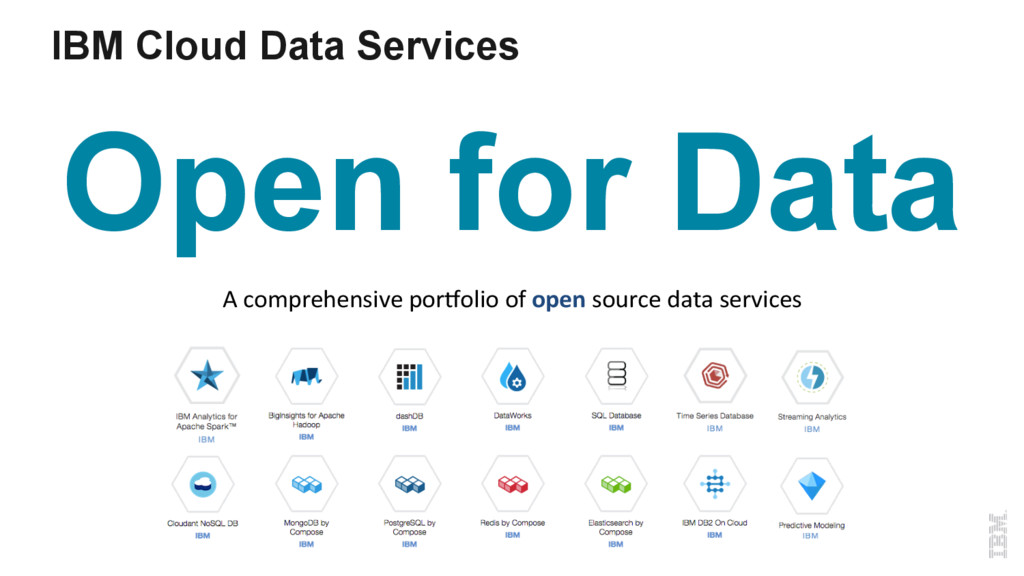 IBM Cloud Data Services Open for Data A compreh...