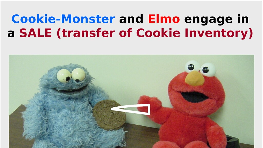 Cookie-Monster and Elmo engage in a SALE (trans...