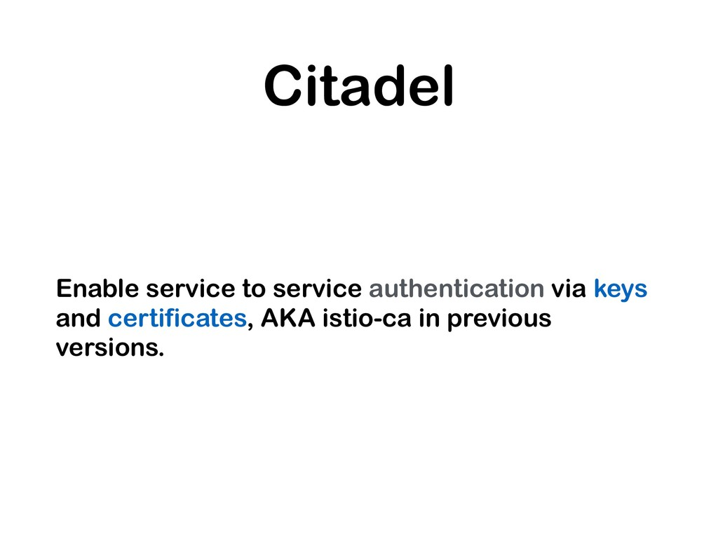 Citadel Enable service to service authenticatio...