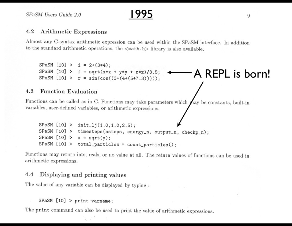 A REPL is born! 1995