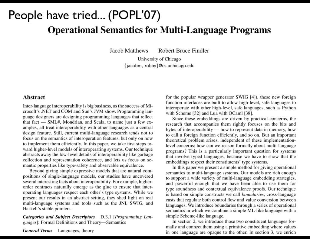 Operational Semantics for Multi-Language Progra...